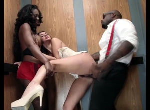 young lady stunner takes Big ebony..