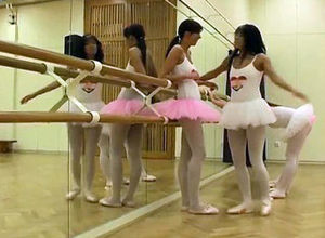 Girl-on-girl urinating - 6  ballet gal..
