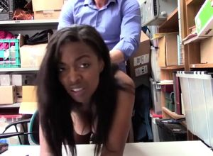 Shoplyfter dark-hued biotch plowed