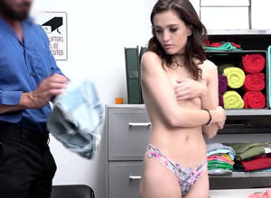 Shoplifter damsel is getting penetrated