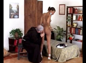 Elder priest unwraps nubile african..
