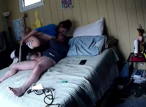 I filmed by spy webcam how my 20 yo..