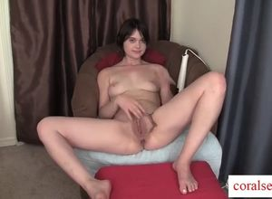 Young woman fledgling livia wanking