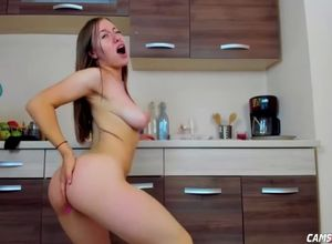 Loli young honey slutting in kitchen