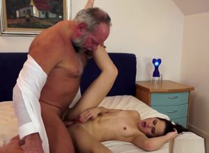 Virgin Bombshell Pounding with A Gramps
