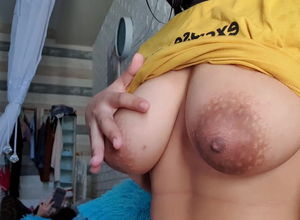 Like to showcase her humungous jugs