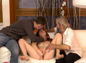 Aged mature 2 dicks Sudden experience..