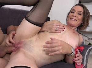 Wild mommy Ania gets virgin man meat..