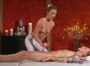 Massage Rooms Young workman is seduced..